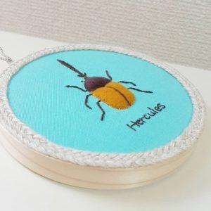 カブトムシ刺繍