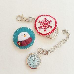 刺繍 時計